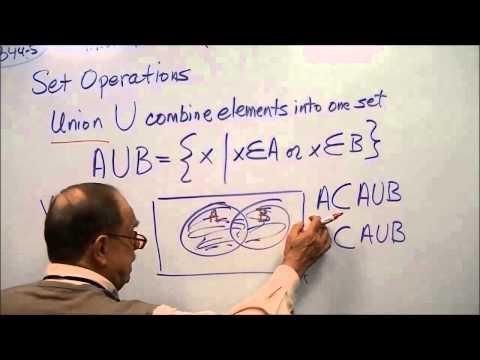 Math 1127 Chap 7.2  Set Properties and Set Notation