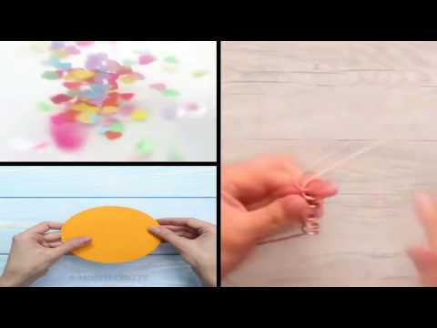 DIY colorful paper umbrellas + DIY olive oil lamp + DIY confetti balloon   5 Minute Crafts