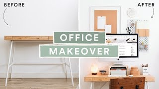 DIY Home Office / Desk Makeover - Super Affordable + Aesthetic // Lone Fox