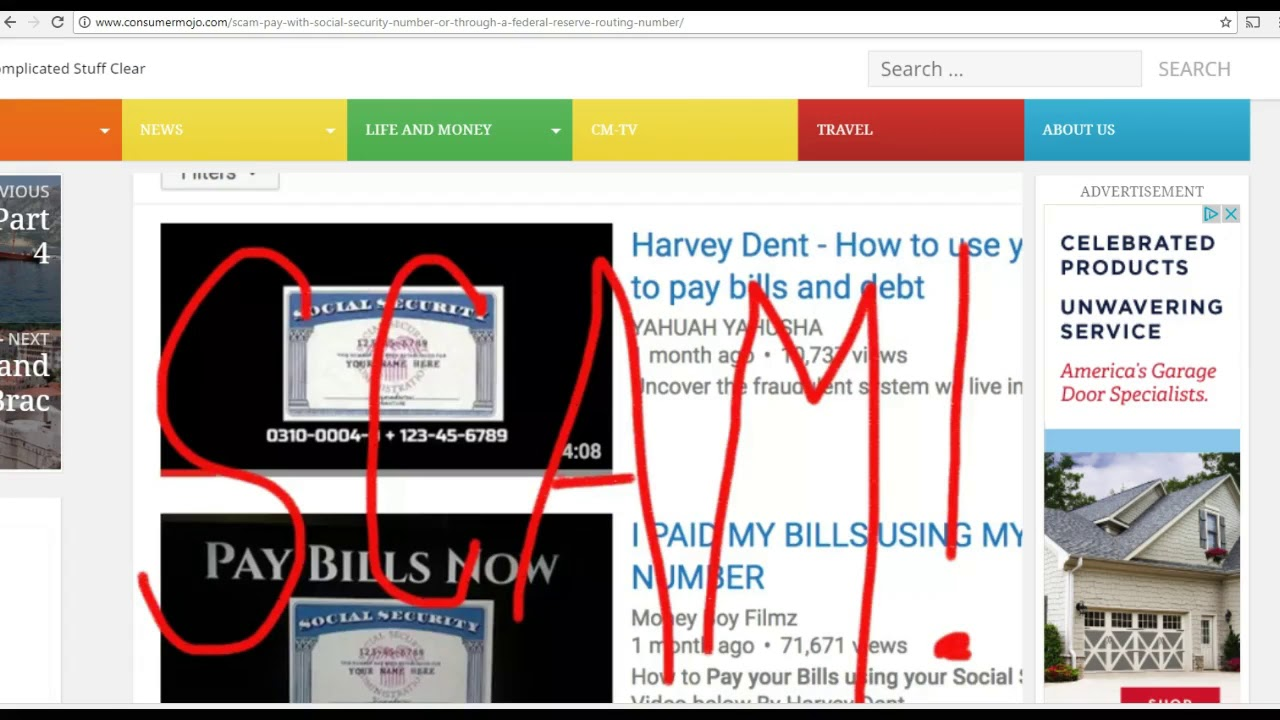 Shout out to Harvey Dent From ConsumerMojo.com  & KNBC Channel 9 Scam Alert.