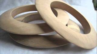 New Unfinished Wood Bangle Bracelets From Banglewood Craft Supplies!