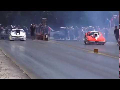 DON TOLLEY (R) with CHUCK HICKS (L) @ SHADY SIDE DRAGWAY