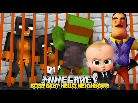 Minecraft Baby Hello Neighbor - LITTLE LIZARD IS THE BOSS BABY HELPER  - Little Club Baby Max