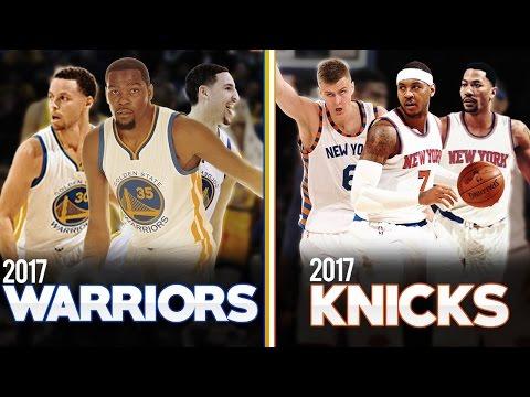 2017 New York Knicks vs 2017 Golden State Warriors - Playoff Series Simulator