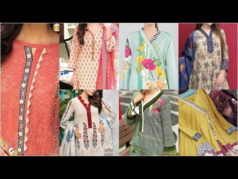 Very Very Latest Fashion Trend Of Placket Neck Designs Ideas / Overlap Placket/ Kurta Patti