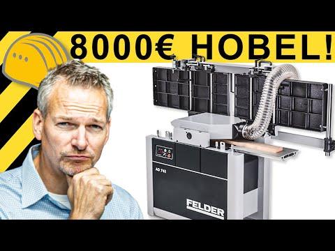 WAS KANN EIN 8000,-€ HOBEL? - FELDER AD 741 TEST | WERKZEUG NEWS #68