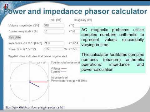 Complex power and impedance calculator --QuickField FEA Software