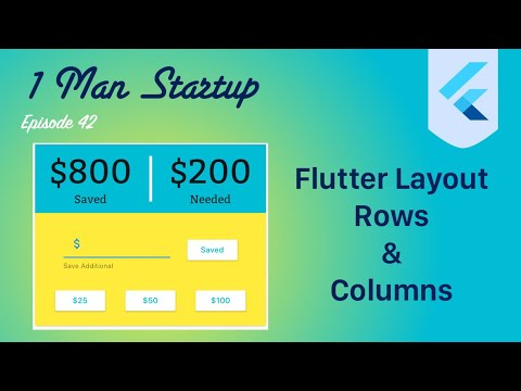 (Ep 42) Flutter: Building Complex Layout Using Rows & Columns