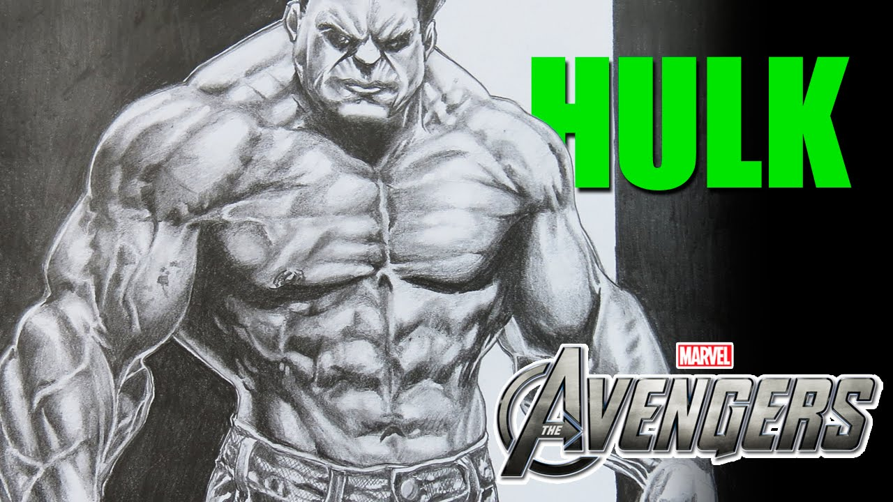 Drawing Hulk From Avengers Shading 1 Youtube