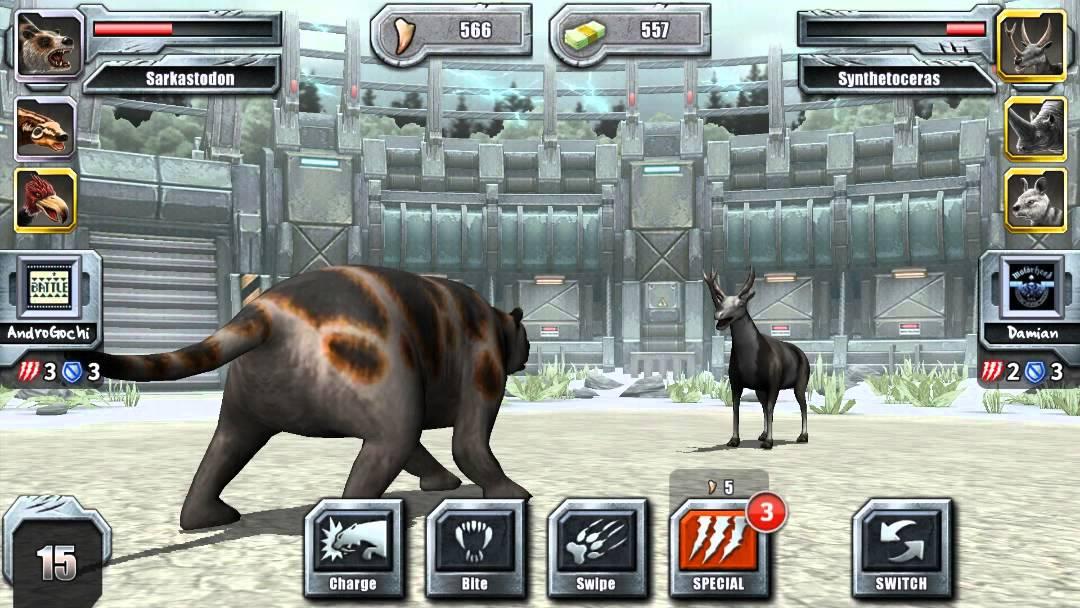 New Jurassic Park Builder Glacier Epic Tournament Battle