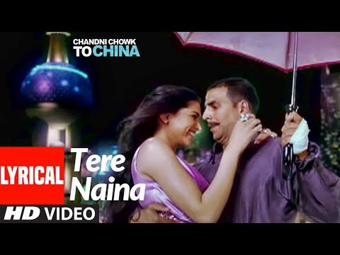 Tere Naina Lyrical | Chandni Chowk To China |Akshay Kumar, Deepika Padukone | Shankar M , Shreya G