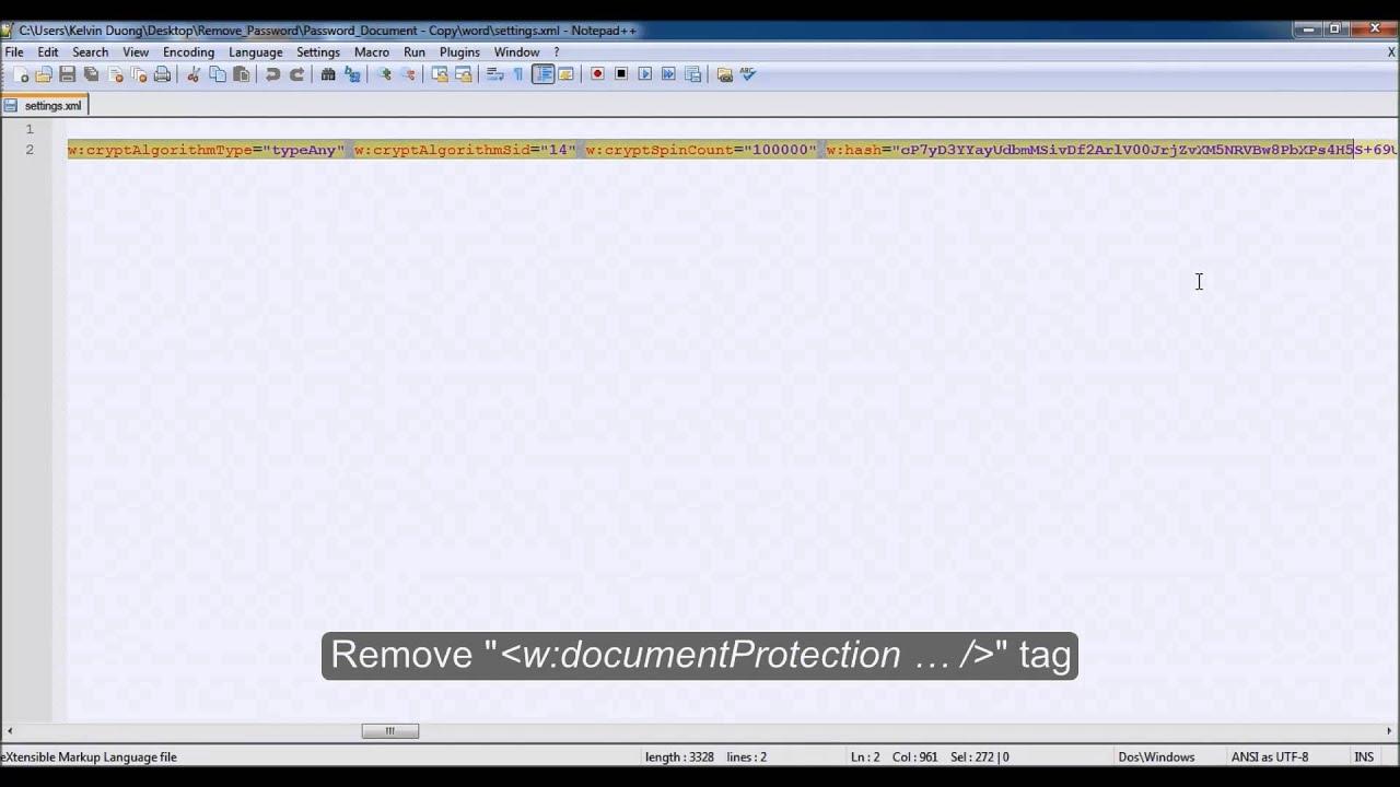 microsoft word remove password 2007