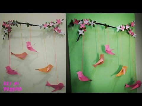 DIY paper wall hanging| Diy wall decor | diy room decor | art my ...