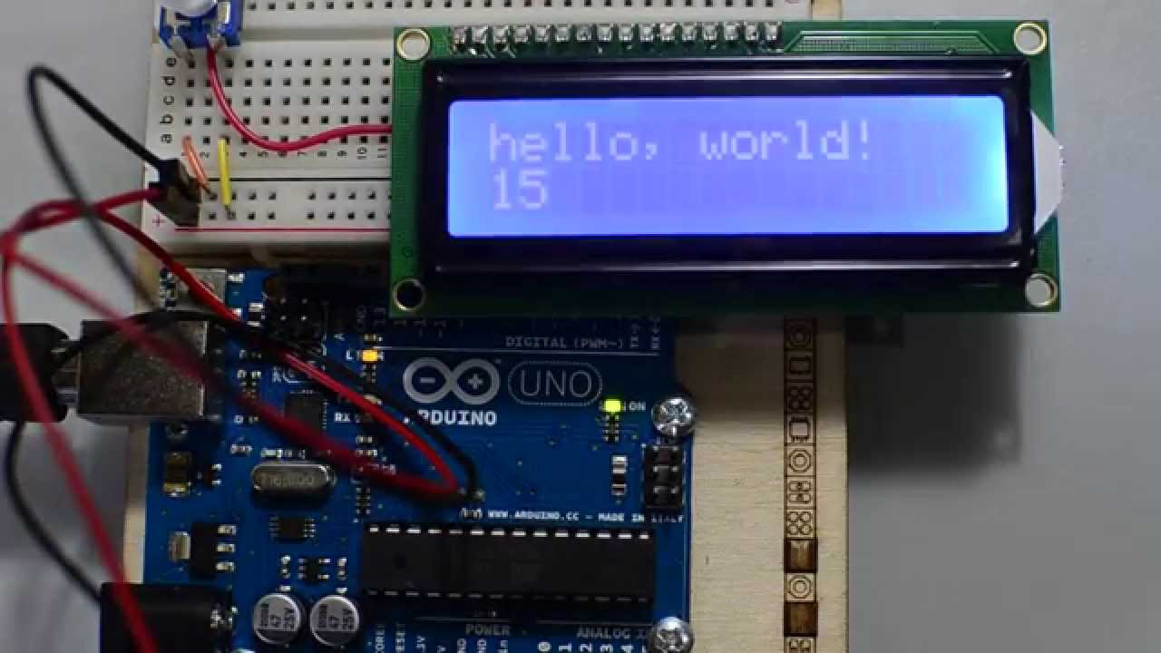 Arduino starter kit projects lcd screen hello world