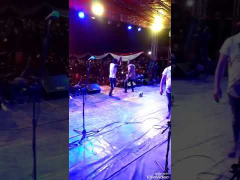 Christian metu stage life performance  freedoms square Owerri IMO state Nigeria with phyno and timay