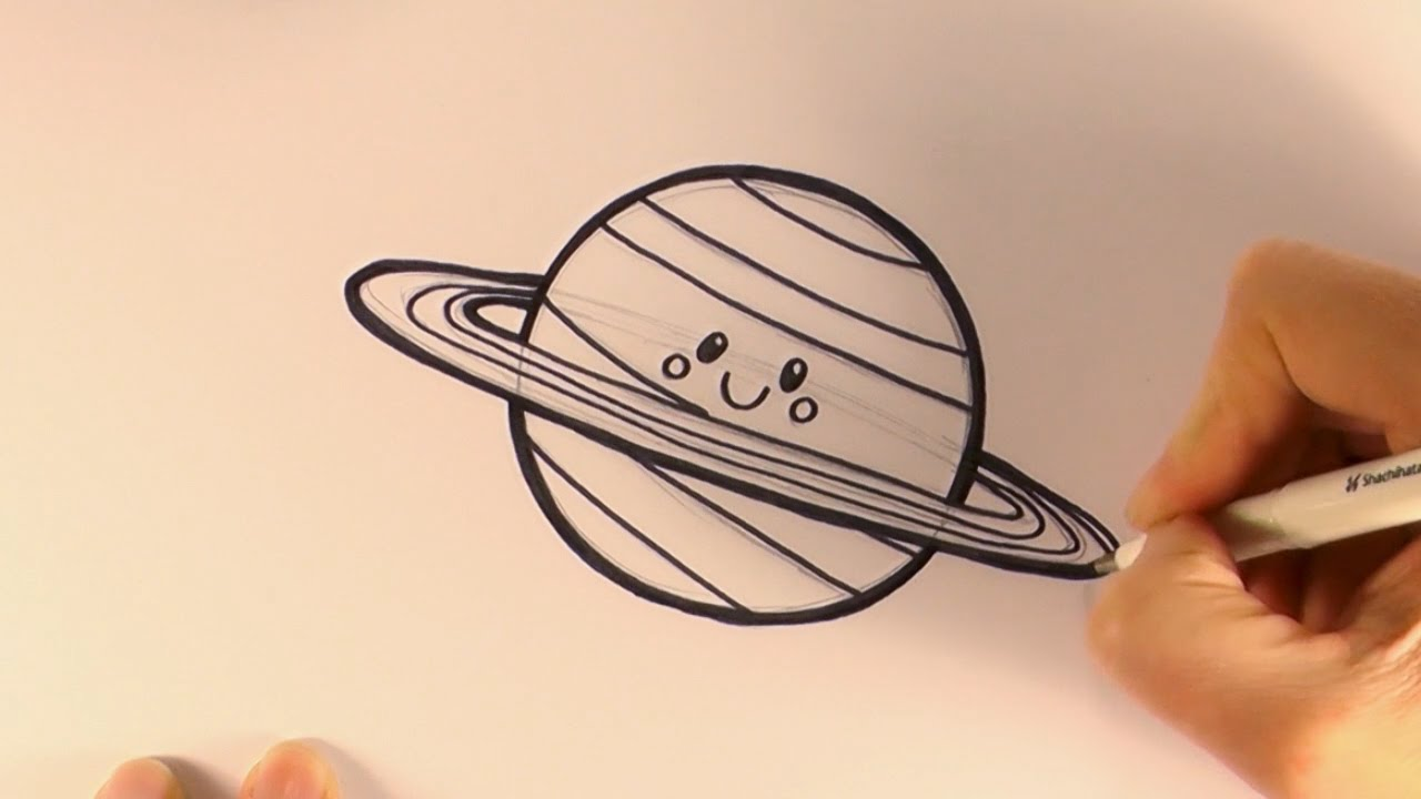 planet saturn drawing - photo #17