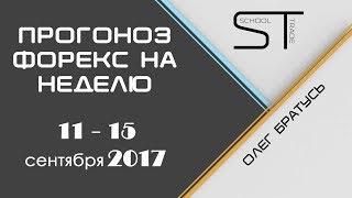 ПРОГНОЗ РЫНКА ФОРЕКС НА НЕДЕЛЮ с 11.09 по 15.09.2017