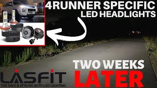 2  WEEK REVIEW! Lasfit LED Toyota 4Runner Specific Headlights