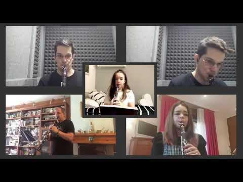 Clarinetes de la Escuela de Música en Salas de los Intantes