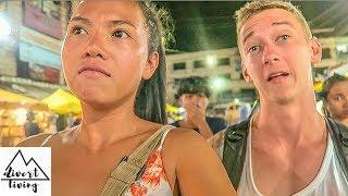 WALKING STREET NIGHT MARKET KRABI TOWN STREET FOOD & SHOPPING IN KRABI THAILAND