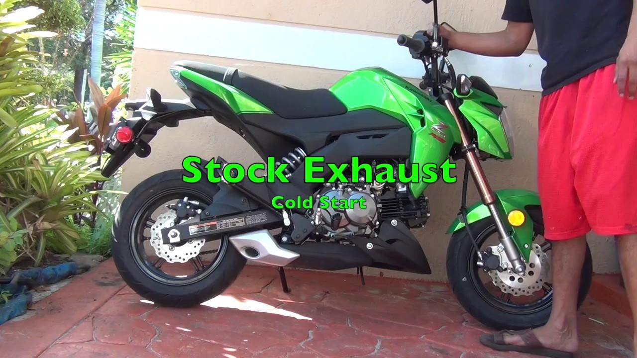 z125 yoshimura vs stock exhaust