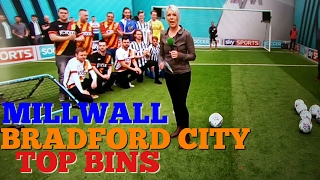 MILLWALL AND BRADFORD FANS TOP BINS
