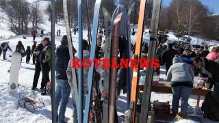 Пистата в Котел ХИТ за скиорите от източна България www.kotelnews.com