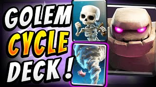 NO ONE EXPECTS THIS GOLEM DECK! CRAZY FAST CYCLE - Clash Royale