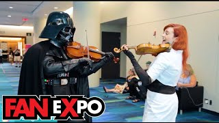 Download lagu Violin Girl Surprises Cosplayers with their Themes - Fan Expo Sunday