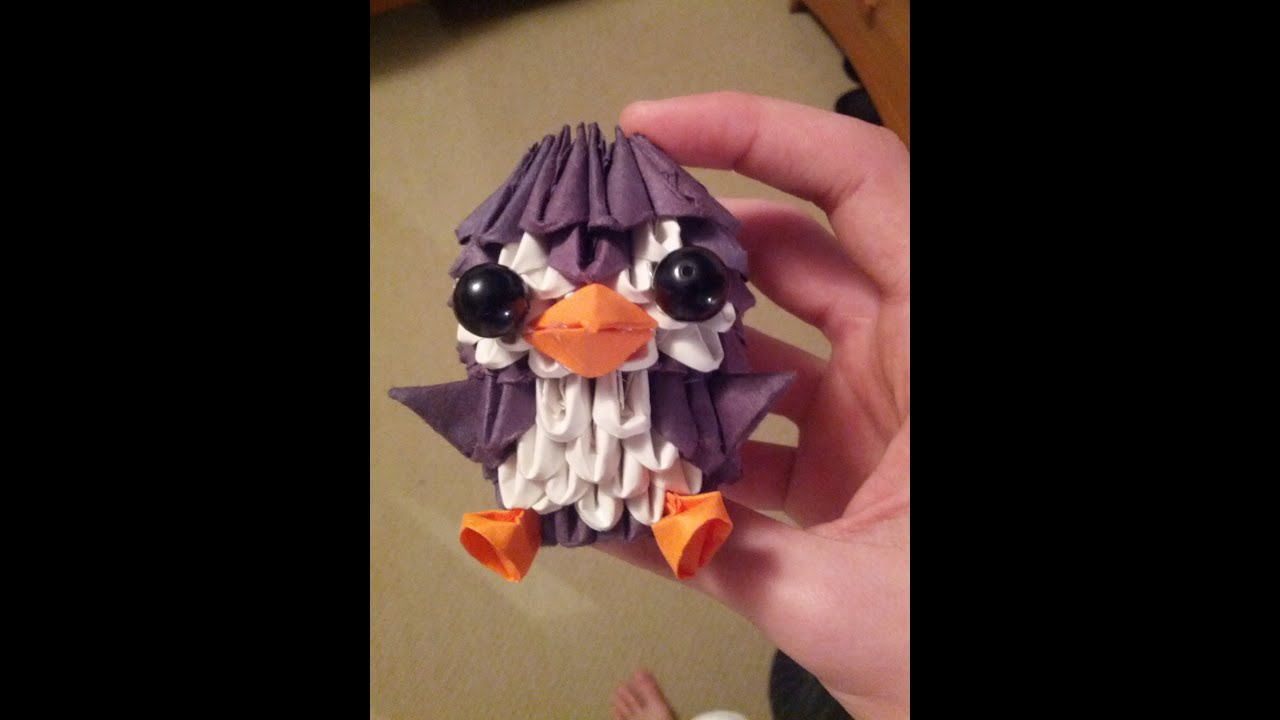3D Origami Penguin - YouTube - photo#29