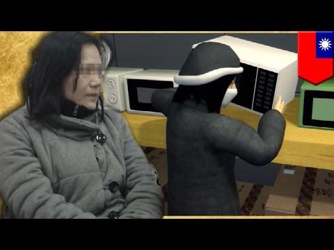 売場で暖房器具と電子レンジ入れ替え 女逮捕