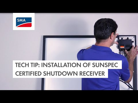 Installation of SunSpec Certified Shutdown Receiver