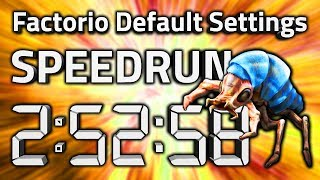 "Factorio ""Default Settings"" Speedrun in 2:52:58 by AntiElitz [0.17.60+ World Record]"