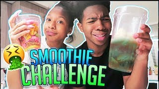 Nastiest Smoothie Challenge Ever With My Sister!