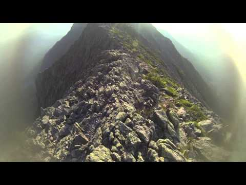 Baxter State Park -  Katahdin - Knife Edge (Entire trail on video)
