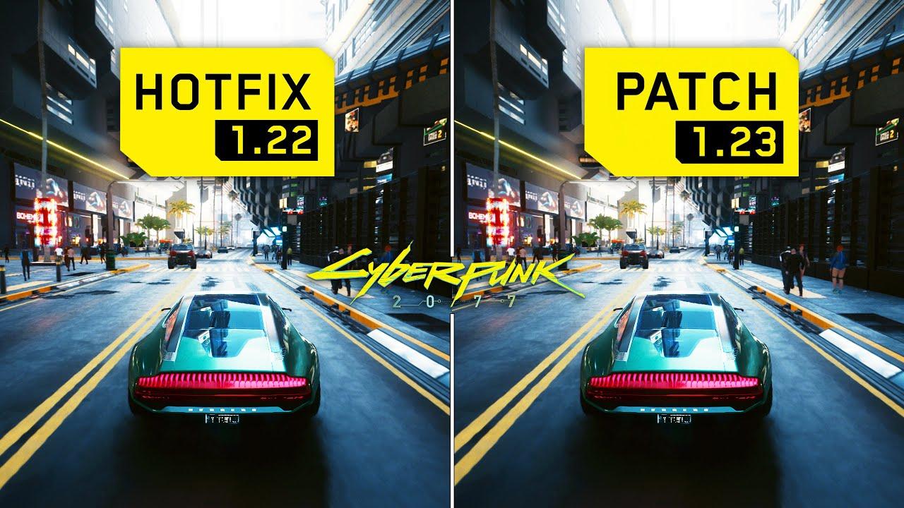 Cyberpunk 2077 - Patch 1.23 vs 1.22 - FPS Comparison