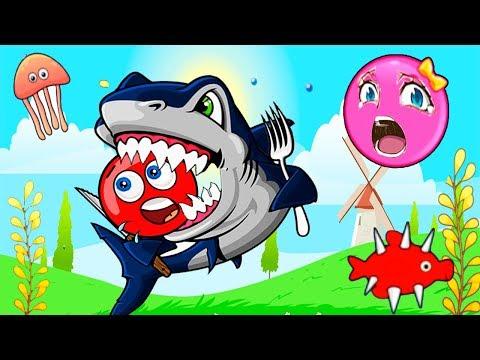 МУЛЬТИК про КРАСНЫЙ ШАРИК и Розовый Шар (квадрат) Девочка - Red Ball! Серия 8