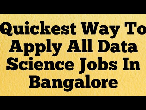 Data Science Jobs In Bangalore | How To Quickly Search & Apply | BigDatakb.com