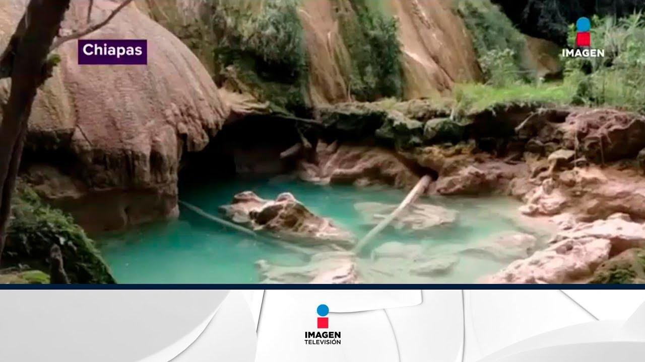 Se secan las cascadas de Agua Azul en Chiapas ¿qué pasó? | Noticias con Yuriria Sierra