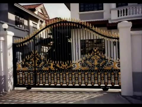 Iron Gates Ornamental Custom Design Artistic Estate Main Youtube
