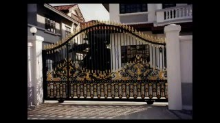 Iron Gates Ornamental Custom Design Artistic Estate Main