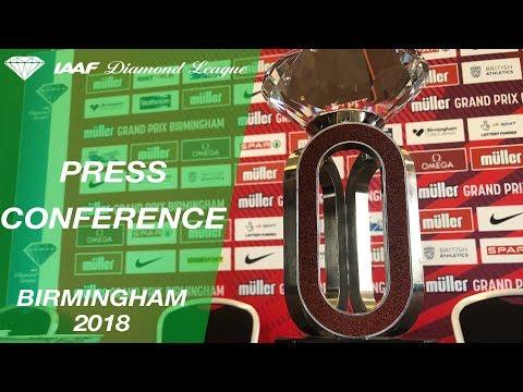 Birmingham 2018 Press Conference - IAAF Diamond League