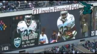 Eagles Honor RB Ricky Waters at Haltime 10/14/2012