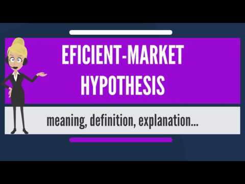 What is EFFICIENT-MARKET HYPOTHESIS? What does EFFICIENT-MARKET HYPOTHESIS mean?