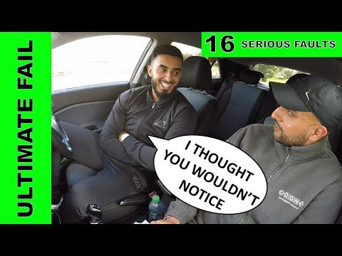 """Confident Driver Makes 16 SERIOUS Driving Faults 