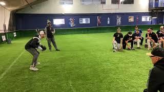 Infield Indoor Practice - BASEBALL INFIELD TIPS