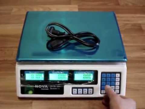 Торговые весы Nova - видео - YouTube