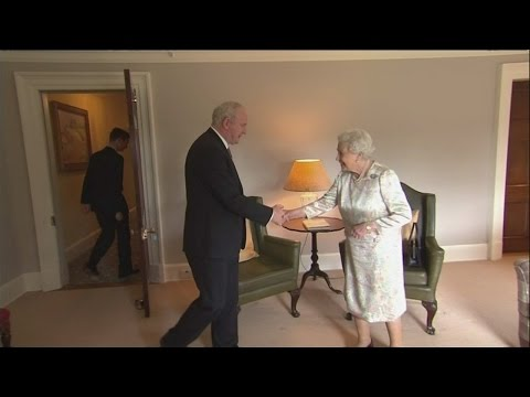 Queen jokes 'I'm still alive' when asked if she's well
