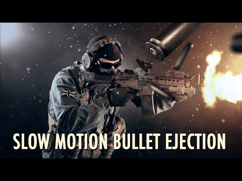 Slow motion bullet shells with Element 3D