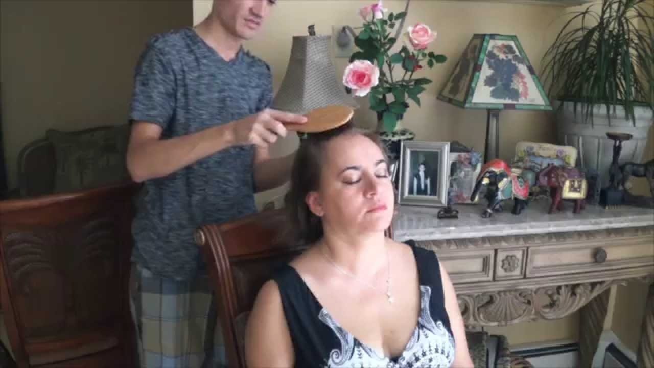 Hair Brushing Scalp Massage On My Mom Softly Spoken 3d Asmr Youtube